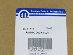 11-19 Ram Trucks FRONT & REAR STAINLESS STEEL DOOR SILL GUARDS SET / 4 OEM MOPAR