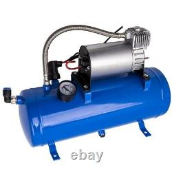 12V Air Compressor Truck Pickup On Board Air Horn 150PSI DC With 6 Liter Tank