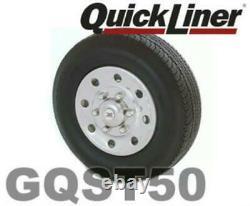 15 Chrome Stainless Steel Single Wheel Simulators Truck Trailer Hubcaps GQST50