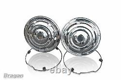 17.5 Swedish Style Stainless Steel Front + Rear Wheel Trim Cover Set Truck Bus