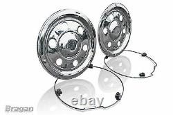 17.5 Swedish Style Stainless Steel Rear Wheel Trims Covers Bus Truck Lorry