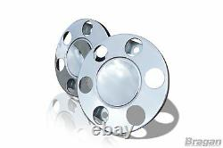 17.5 Universal Stainless Steel Front Outer Wheel Trims Covers Truck Lorry