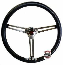 1948-1959 Chevy pickup steering wheel Red Bowtie 15 MUSCLE CAR STAINLESS