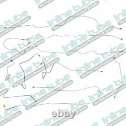 1976-79 Ford Truck F100 F150 Long Bed Power Disc 2wd Brake Line Set Stainless