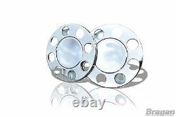 19.5 Universal Stainless Steel Front Outer Wheel Trims Covers Truck Lorry