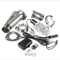 2.5 Inch 63mm Remote Electric Exhaust Catback Downpipe Cutout E-Cut Out Valve