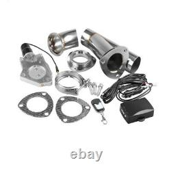 3 Electric Exhaust Cutout Kit Remote Control Valve With Electronic Switch YPipe