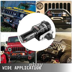 4500LBS Electric Winch 12V Synthetic Rope ATV UTE Remote Control Towing Truck