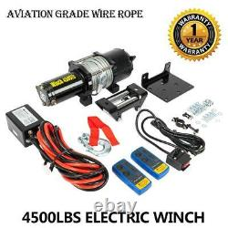 4500Lbs Electric Recovery Winch Truck for SUV/Jeep Wireless Remote Control