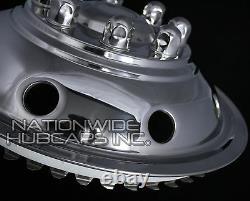 4 Ford 16 Dual Wheel Simulators Hub Caps Full Rim Skins Deep Dish Domed Covers