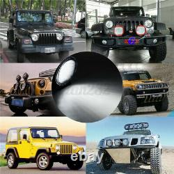 640W 9 inch Round Led Spot Flood Driving Work Light Offroad Truck 4X4WD Bumper