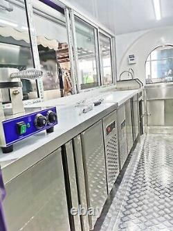 9ft Mobile Food Cart Trailer Made to Order Stainless Steel Custom Food Truck