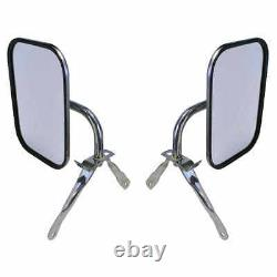 Below Eye Level Mirror Assembly Stainless Steel 73-87 Chevy GMC Pickup Van PAIR