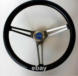Chevrolet Truck C10 C20 C30 Blazer Grant Black Steering Wheel 15 Blue Bowtie