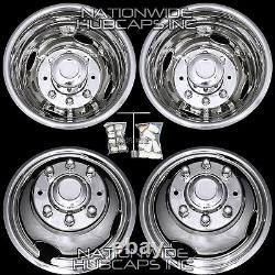 Chevy 3500 16 Dually Stainless Steel Bolt On Wheel Simulators Dual Cover Liners