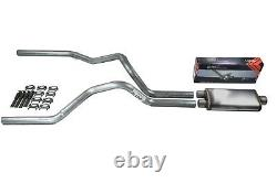 Chevy GMC 1500 Truck 88-95 2.5 Dual Truck Exhaust Kit Flow II Stainless Muffler