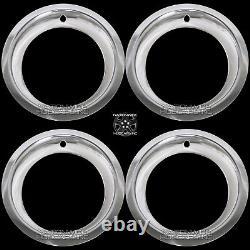 Chevy Gmc 6 Lug 15 Rally Wheel 3 Deep Trim Rings Beauty Rim Ring Steel Wheels