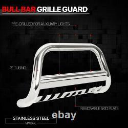 Chrome 3 Front Bumper Bull/Push Bar Brush Grille Guard for 09-18 Ram 1500 Truck