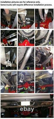 Conversion Exhaust Kit Fits 1993 2002 Ford F150 F250 Pick up Trucks