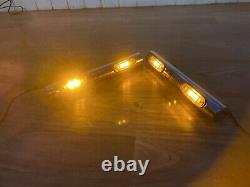 DAF CF XF ONE PAIR STAINLESS STEEL LIGHT BAR 30 CM Whit 2 LEDs LORRY TRUCK