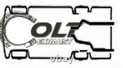 Dual 2.5 Mandrel Exhaust Pipes fits 1996 1999 Pickup Truck