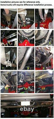 Dual Pipe Conversion Exhaust Kit fits GMC Chevy trucks 1999-08 Sierra Silverado
