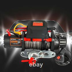 Electric Winch 12000Ibs 12V 90FT Synthetic Rope 4WD ATV UTV Winch Towing Truck