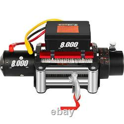 Electric Winch 8000Ibs 12V with Cable Steel for 4WD ATV UTV Winch Towing Truck