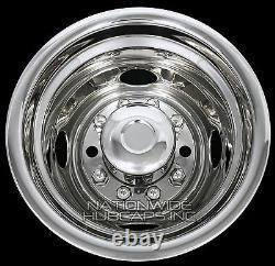 FORD F450 F53 16 10 Lug Dual Wheel Simulators Dually Rim Liners Hub Caps Covers