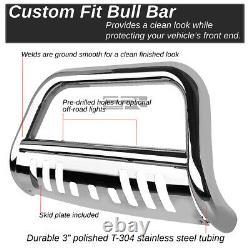 For 2009-2018 Ram 1500 Truck Stainless Brush Bull Bar Push Bumper Grille Guard