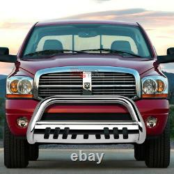 For 97-04 Dodge Dakota/durango Truck Stainless Bumper Bull Bar Grille Skid Plate