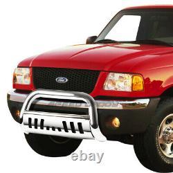 For 98-11 Ford Ranger Pickup Truck Chrome 3bull Bar Push Bumper Grill Guard