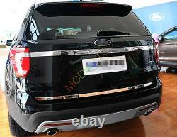 For Ford Explorer 2016-2019 Stainless steel rear truck door bottom trim cover