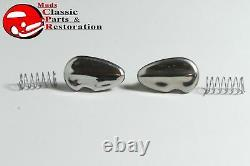 Ford Lincoln Mercury Door Lock Cylinder Flip Cover Stainless Steel Bezels Spring