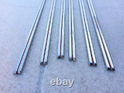 HOOD Trim Strips with Clips for 1941-46 Chevrolet Trucks Set 30 Pcs FREE SHIPPING