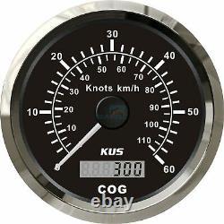 KUS Boat GPS Speedometer 0-60 Knots 110 km/h Marine /Truck Analogue Speed Gauge