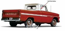 OER Reproduction Stainless Steel Cab Side Molding Set 1964-1966 Chevy Truck