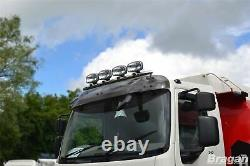 Roof Spot Light Bar + LEDs For Iveco Eurocargo Front Lorry Truck Stainless Steel