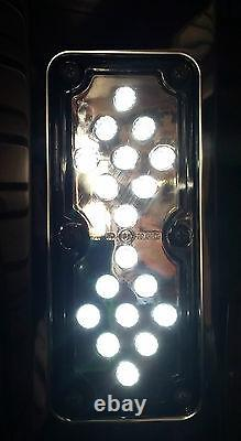 S/S Westcoast Heated mirror with spotter and Clear LED light. Truck, Bus, Van, Ute