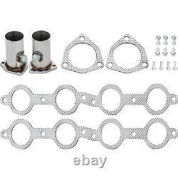 Set LS Swap Exhaust Headers For Chevy LS1 LS2 LS3 LS6 LS9 S10 SUV Truck Super