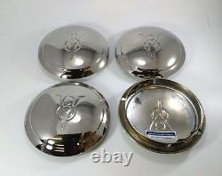 Set of 4 V8 Logo Hubcaps for 1934 Ford Car Pickup Truck (One / Single Ring)