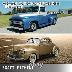 Shorty Exhaust Headers 1932-1953 Fit Ford Flathead V8 Car Pickup Truck Stainless