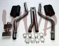 Stainless 3 Dual Cat Back Exhaust 08-14 Dodge Challenger SRT8 With Flowmaster Muf