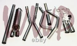 Stainless 3 Dual Split Rear Exit Cat Back Exhaust 14-19 Chevy/GMC 1500 Pickup