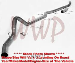 Stainless 4 Turbo Back & DownPipe Exhaust System 94-00 Chevy/GMC CK 6.5L Diesel