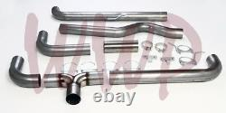 Stainless 4 Turbo Back Dual Smoker Exhaust System For 94-02 Dodge Ram Cummins