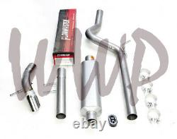 Stainless Cat-Back Exhaust System 07-18 Jeep Wrangler JK With Flowmaster Muffler