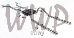 Stainless Dual 2.5 Header Back Exhaust 55-57 Chevy Cars V8 W Flowmaster Muffler