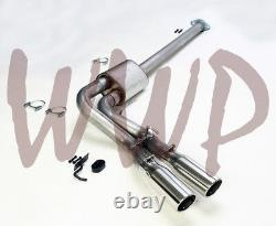 Stainless Single Pre-Axle Exit 3 Cat Back Exhaust System Dual 15-20 Ford F150