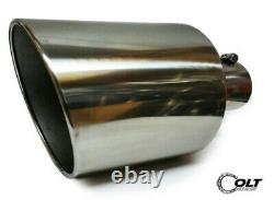 Stainless Steel Diesel Truck Bolt On Exhaust Tip 4 Inlet 10 Outlet 18 Long